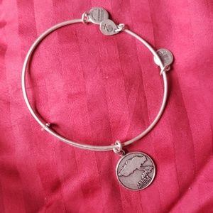 Silver Alex and Ani Aruba charm bracelet